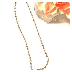 Jewelry - Gold multicolored crystals